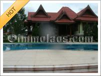 House for rent with swimming pool in Vientiane Laos