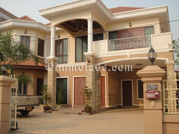 Modern house for rent close to fitness in Vientiane Laos