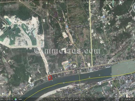 Mekong riverside land for sale in Vientiane Laos